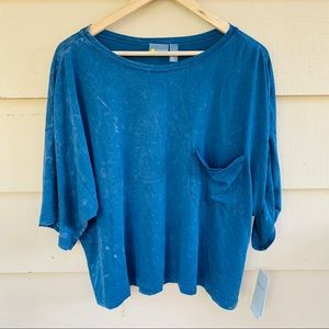 🔥FIRM Zella Shay Boxy T XL ALL DAY comfy Blue top